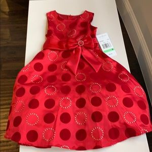 Beautiful red dress for your little princess!